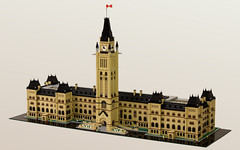 Parliament Buildings of Canada (True Dimensions) Tags: ontario canada buildings lego ottawa capital gothic parliament revival