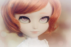 Wileon (Queen Carcharias  Libuse) Tags: pink orange glass strange ginger eyes doll wig carrot pullip custo johan albinos isul