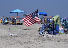 Happy Birthday America - project 366 #186 (gaila3) Tags: ocean people beach water sand nj july americanflag july4th umbrellas brigantine jerseyshore beachchairs 2012 366 project365