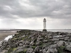 New Brighton Lighthouse (Mike Parr) Tags: lighthouse landscape wallasey wirral newbrighton merseyside rivermersey wirralpeninsula newbrightonlighthouse mikeparr perchrock perchrocklighthouse htccameraphone hdrsetting mikeparrphotography