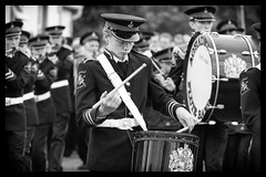 Drummer in flute band at Orange parade in Rossnowlagh (Frank Fullard) Tags: street ireland portrait musician music orange march drum candid band flute parade drummer northernireland protestant donegal rossnowlagh ulster orangemen orangeman orangemarch fullard fluteband frankfullard