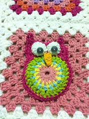 IMG_0211 (Melissa and Craig) Tags: flower quilt crochet yarn afghan owl grannysquare crochetflower crochetowl
