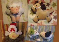 Ei menina gosto tantos dos teus bichinhos.... (CANELA COOL by CAROL) Tags: wool felt feltro bichinhos l eimenina