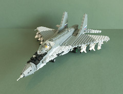 "MiG-35 SMT ""Fulcrum-F"" (Aleksander Stein) Tags: west model fighter lego russia near military future upgrade smt fulcrum multirole fictitious mig35"
