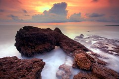 Sunset at kadalundi (AgniMax) Tags: longexposure sunset beach nature evening slowshutter sigma1020 nd8x gnd8x