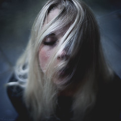 (lisa carolina) Tags: blue portrait rain self canon hair eos wind mark lisa ii u carolina 5d 365 karlsson silverscreened