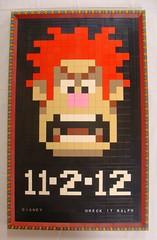 Wreck It Ralph Movie Poster Final Version (notenoughbricks) Tags: movie lego mosaic disney movieposter videogame legomosaic wreckitralph 8bitvideogame