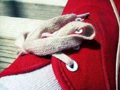 ( meagan ) Tags: red summer sun white macro closeup shoe shoes sneakers vans hd laces keds tiltshift