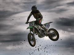 Moto Cross (sharko333) Tags: race jump action olympus motorbike motorcycle motocross rennen sprung e5 motorrad
