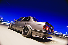 Sebo's e30 (Handsome and Philthy) Tags: night canon print shot oldschool 10d rig bmw 1224mm rolling e30