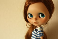 Apricot (buganville) Tags: summer girl smiling japanese doll tan apricot blythe freckles custom takara ebony tomy tanned mueca cwc buganville rbl primadolly