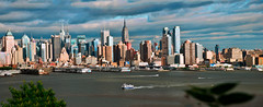 New York City Panorama (a2roland) Tags: a2rolandyahoocom a2roland norman zeb nyc ny panorama wide angle buildings concord concorde aircraft sr71 intrepid museum waterway taxi circle line cunard uk view landscape boats sailing yatch clouds morning afternoon flickr photo picture manhattan waterways empire state © photography all rights reserved
