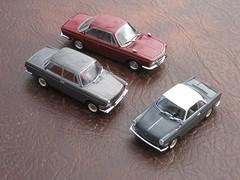 BMW 700 Limousine & Coupe, plus 2000CS Coupe (andreboeni) Tags: auto classic cars car miniature model 2000 retro collection bmw oldtimer autos 700 coupe limousine voitures deutsche 143 classique minichamps 2000cs