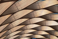 Woven Wood (skipmoore) Tags: chicago architecture structure honeycomb lincolnpark
