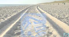 Maasvlakte 2 - Tracks on the beach. (Brian de Leeuw) Tags: sea sky haven beach water strand harbor rotterdam sand map sony air tracks maasvlakte superzoom gatetoeurope bridgecamera rotterdamsehaven maasvlakte2 hx300