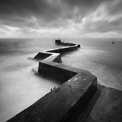 Wayward (Ian Mountford) Tags: longexposure sea water port square scotland moody harbour fife lee nd z filters zigzag breakwater wayward stmonans stmonance bigstopper