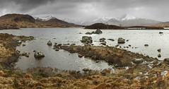 Lochan na h-Achlaise and misty mountains (Katybun of Beverley) Tags: landscape scotland rocks rannochmoor lochannahachlaise