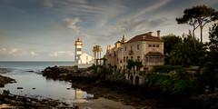 Santa Marta Lighthouse Cascais (mark_amphlett) Tags: santa sea sky lighthouse beach portugal clouds sand waves marta cascais