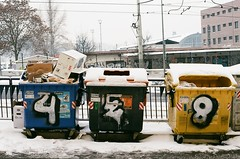 88930021 (aLMachtunG) Tags: analog 35mm graffiti prague streetphotography praha czechrepublic canonae1 canonfd50mmf18 fujicolorsuperia200