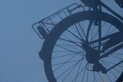 Shadow of a cycle (Jan van der Wolf) Tags: blue shadow monochrome bike bicycle blauw minimal cycle minimalism minimalistic fiets monochroom minimalisme minimlistic map155100vv