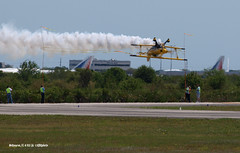 160403_12_MEL_N99MF (AgentADQ) Tags: show plane airplane florida aviation air melbourne jim bulldog special leroy aerobatics stuntplane pitts 2016 s2b