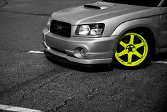 step on a crack... (RayBanzPhotography) Tags: cars lines fuji rj zoom low x adapter subaru rims tamron f28 carshow colorspot 2875mm xe1 xmount
