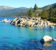 Early Morning, Sand Harbor, Lake Tahoe, NV 9-10 (inkknife_2000 (6.5 million views +)) Tags: mountains forest island bluewater pinetrees clearwater deepblue alpinelakes sandharbor andscapes rocksinwater dgrahamphoto