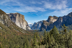 Sheer Beauty (Jill Clardy) Tags: california blue sky snow mountains forest day clear valley granite halfdome yosemitenationalpark elcapitan bridalveilfalls sheer tunnelview 201603164b4a08362hdr2