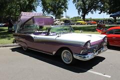 1957 Ford Fairlane Hardtop Convertible (eagle69er) Tags: show car grove micke 2016
