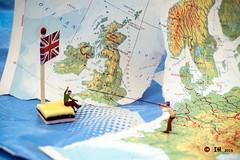 © Inge Hoogendoorn (ingehoogendoorn) Tags: uk island sailing unitedkingdom map eu gb exit littlepeople referendum unionjack bootje smallworld europeanunion kaart drifting tinypeople noch engelsedrop smallpeople preiser bosatlas varen greatbrittain grootbrittannië verenigdkoninkrijk tinypeoplebigworld tinypeopleserie tinypeopleinbigworld brexit