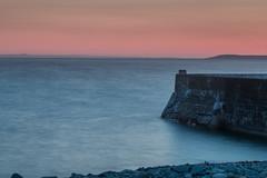 The Harbour Wall (jillyspoon) Tags: sunset sea water coast harbour horizon pebbles shore galloway irishsea dumfriesandgalloway machars portwilliam