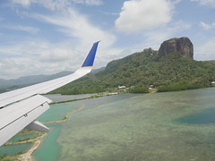 Flying into Pohnpei.