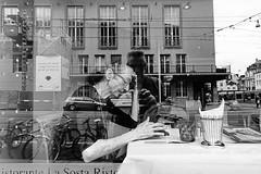 Ristorante La Sosta (Transformer18) Tags: life street city trip travel light shadow summer urban blackandwhite bw woman white black travelling juni skyline lady dark underground photography mono switzerland europe day alone photos live sony monotone tourist basel follow traveller stadt architektur brcke gebude muster tristesse fahrzeug abstrakt metropole diagonale infrastruktur gasse schrfentiefe hintergrund depressive 2016 gehweg symmetrie linien geometrisch textur einfarbig schwarzer zweirad rx100 flickriver gebudestruktur