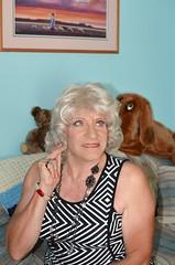 Quis Custodiet Ipsos Custodes? (Laurette Victoria) Tags: woman necklace eyes dress blonde laurette
