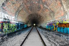 Ilchester (6-11-16)-039 (nickatkins) Tags: longexposure railroad bridge sky water graffiti bridges rail tunnel bluesky ironbridge rails railroads