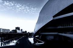 Architettura (u.giommetti) Tags: sky urban blackandwhite valencia architecture clouds spain europa europe nuvole espana cielo urbano architettura biancoenero spagna