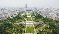 garden view from eiffel tower (Pravin Yarolkar) Tags: paris parislove green garden view city symmetry mirror trees france europe height buildings tower photography landscape nature fromtop cityview pariscity toureiffel arcdetriomph champdemars amazing cool
