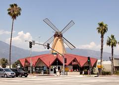 Windmill On Top Of The Arcadia Denny's Restarted (KeithJ) Tags: california windmill lights dennys arcadia vandekamp