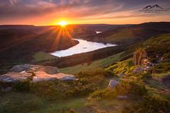 echoes-of-flare (photographyadventures) Tags: summer water walking landscape countryside view hiking peakdistrict reservoir hills edge ladybower landscapephotography bamford bamfordedge photographyadventures