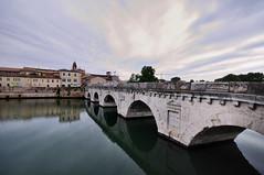 PONTE DI TIBERIO RIMINI (GRAZIE PER LA VISITA) Tags: bridge nikon italia rimini ponte riflessi romagna ponteditiberio sigma1020 nikond90 architetturaromana