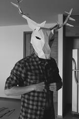 Deerdreamer (indecisiveguy) Tags: light boy shadow portrait blackandwhite man black cute guy photography lights licht fotografie shadows portrt deer antlers mann portfolio bnw junge cuteboy deerantlers cuteguy deerguy bng schn blackandgrey kerl cuteman deerman deerboy deerdreamer