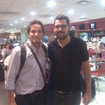 With Martin Larre at Aeroparque Buenos AiresAires
