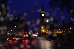 Big Ben Westminster London (\(^*^)/) Tags: london westminster rain night bigben lighttrails
