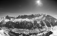 Chane du Mont-Blanc (Alain Bachellier) Tags: sun mountain snow montagne alpes landscape hiver neige paysage chamonix montblanc