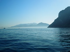 Through the Fog (KatieJean97) Tags: ocean morning italy reflection beach water fog port marina island capri coast boat town europe view ride gorgeous grand cliffs resort distance amalfi
