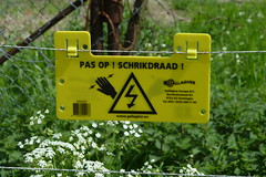 Watch out  Live wire (Michiel2005) Tags: holland netherlands sign warning nederland bord livewire schrikdraad waarschuwing