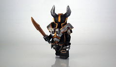 Chaos Knight Champion ([N]atsty) Tags: hammer gold amazing war paint chaos hand lego citadel painted glue awesome champion kinght best made ama minifig custom armory epic golded minifigcat