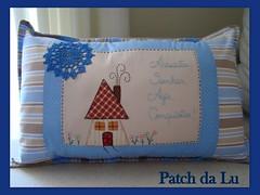 Almofada personalizada (Patch da Lu) Tags: almofadapersonalizada almofadapatchwork almofadaazul patchworkdecasinha