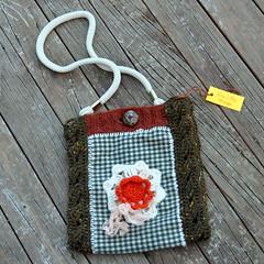 Vintage flanel bag (Kiwi Little Things) Tags: