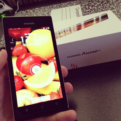 Huawei Ascend P1, for upcoming review on @GadgeTell